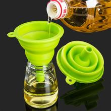 Collapsible Funnel Silicone Foldable for Water Bottle Hopper Kitchen Liquid Powder Transfer wq40