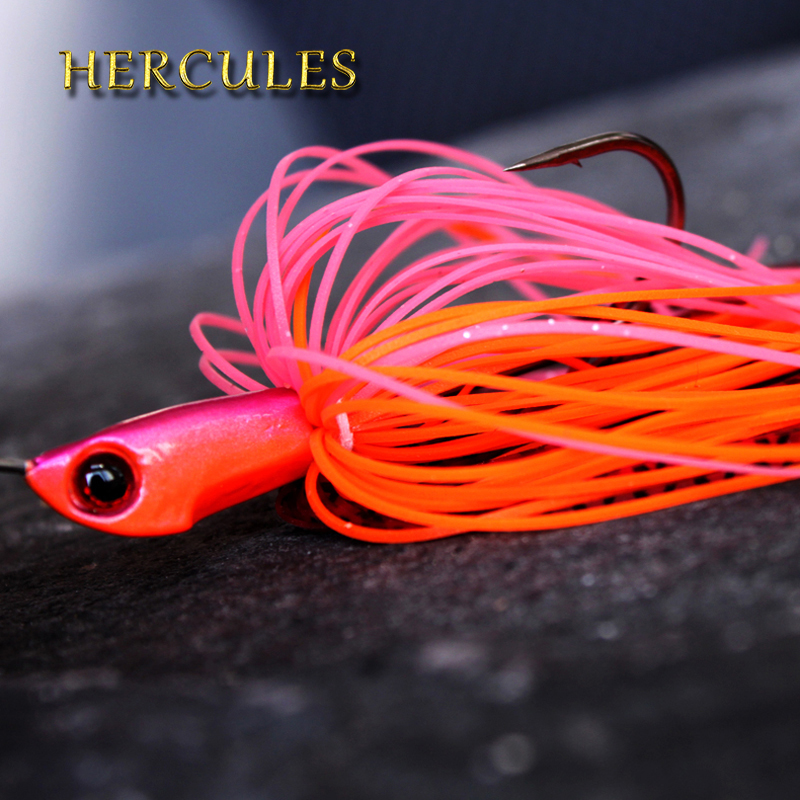 Hercules Fishing Lure Pesca Spinner Bait Spinnerbait Buzzbait Hook Artificial Fishing Carp Accessories Spinners Spoon Bait 1pc bobing spinners 30pcs metal spoon lures hard bait multiple colors lure fishing tackle accessories artificial baits pesca spiners
