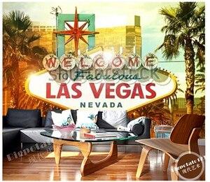 Personalizado foto Papel de parede, Welcome to Fabulous Las Vegas mural Papel de parede de vinil Papel de parede para sala de TV parede