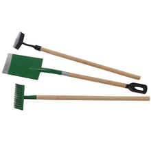 Miniature Dollhouse Set Of 3 Gardening Equipment Tool Fairy Garden Accessories – green