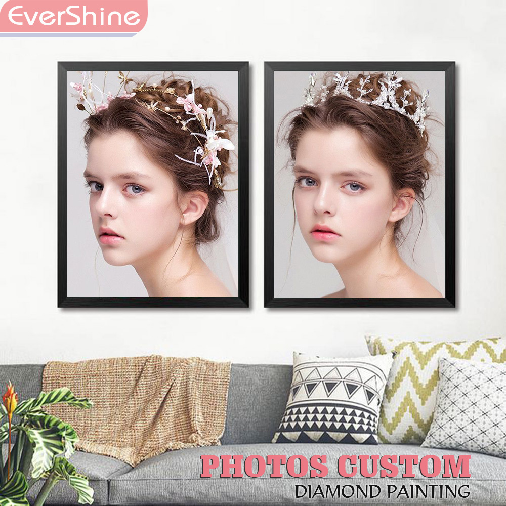 EverShine Photo Custom Diamond Painting Full Round 5D Embroidery Sale Picture Of Rhinestone Mosaic Wall Decor