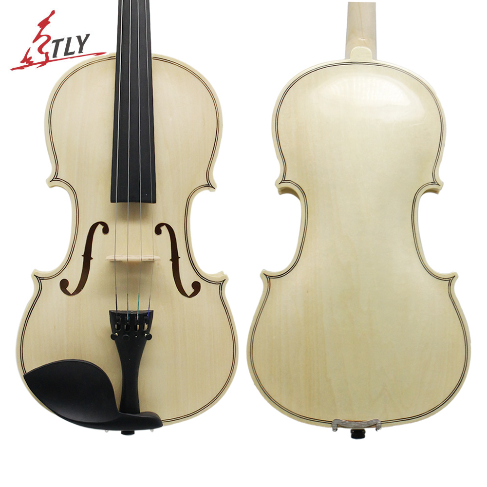 TONGLING Log Color Acoustic Violin 4/4 3/4 1/2 1/4 1/8 for Beginner Students w/ Case Bow Rosin Shoulder Rest Mute Strings 4 strings new 4 4 electric violin silent pickup fine tone parts include new golden color 5 22 red color