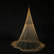 New Nylon Monofilament Gill Fishing Net for Hand Casting 3.2 x 2m Folding Fish Net Baits Cast Mesh Trap