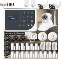 SmartYIBA Wireless WIFI GSM Alarm System Android IOS APP Alarm Home Security Intruder Alarm Kits Video