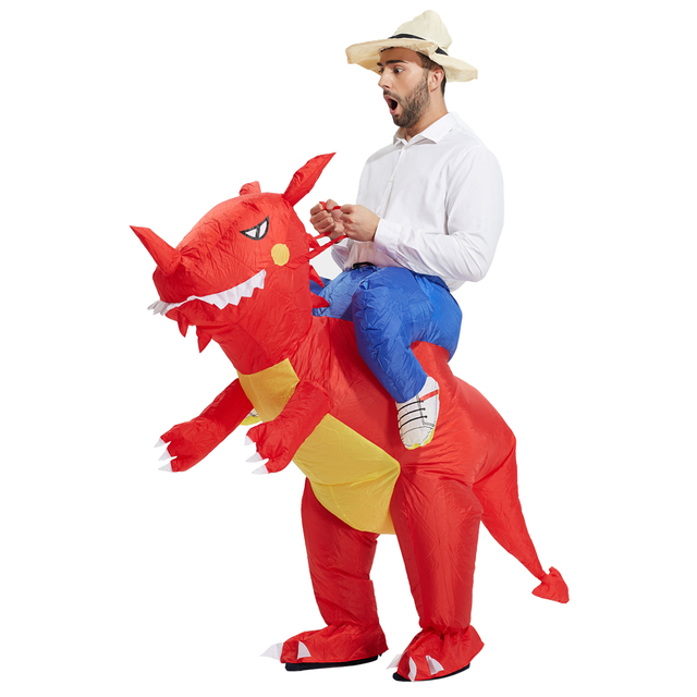 514583a8b3175 TOLOCO inflatable dinosaur costume for adults Halloween costume disfraces fancy  dress for men kids animal cloth Fan operated