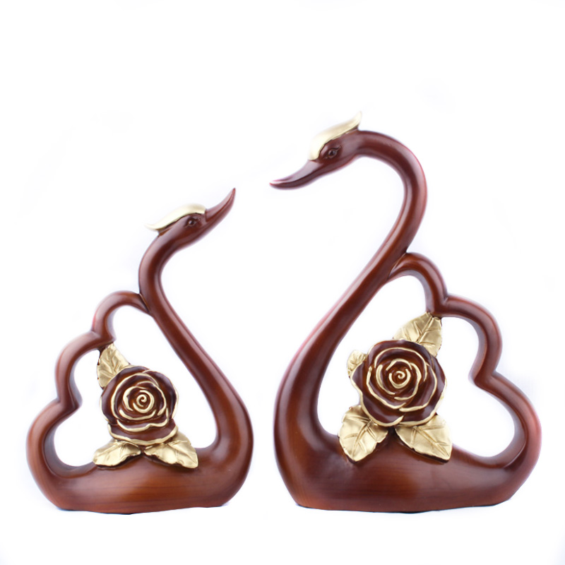 2pcs/set Resin Crafts Creative Rose And Swan Couples Ornaments Desk Decor Modern Home Decoration Accessories Valentines Gifts2pcs/set Resin Crafts Creative Rose And Swan Couples Ornaments Desk Decor Modern Home Decoration Accessories Valentines Gifts