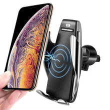 Automatic Clamping Wireless Car Charger 10W Smart Sensor Car Phone Holder Wireless Charger for Samsung S10 IPhone Xs Xiaomi Mi 9