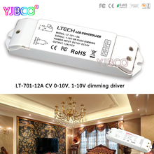 LTECH Free shipping LT-701-12A CV Constant voltage 0/1-10V Dimming Driver PWM or push button 12A*1CH MAX 12A for led strip hd 12a