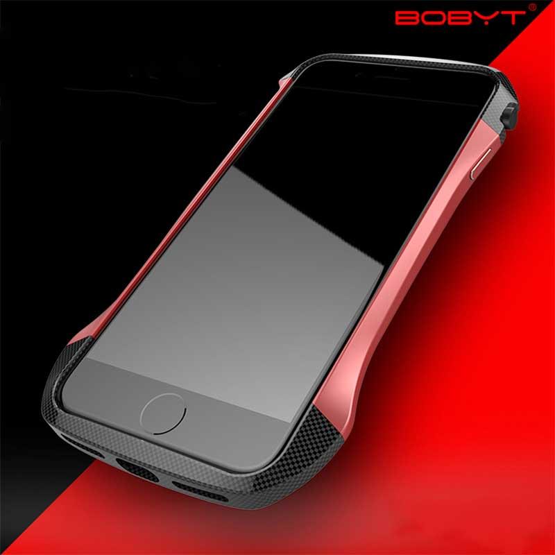 bilder für Ginmic Für iPhone 7/7 Plus Aluminium + Carbon Kunststoff Hybrid Farbe Schützende Bumper Rahmen Fällen