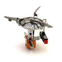 Outdoor camping stove mini-stove head-style stove with electronic fire camping furnace