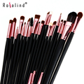 Rosalind 2015 nova marca pincéis de maquiagem ferramentas 20 pcs cabelo sintético make up brush set beleza bolsa
