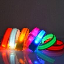 1/10 шт. Светодиодный проблесковый браслет на запястье Браслет повязка на руку во время ленточный светильник на Танцевальная Вечеринка светящийся светодиодный браслет для вечерние украшения подарок