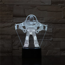 Toy Story Buzz Lightyear Night Light LED Astronaut Decorative Lamp Child Kids Gift Cartoon spaceman Kit Table Bedroom Space