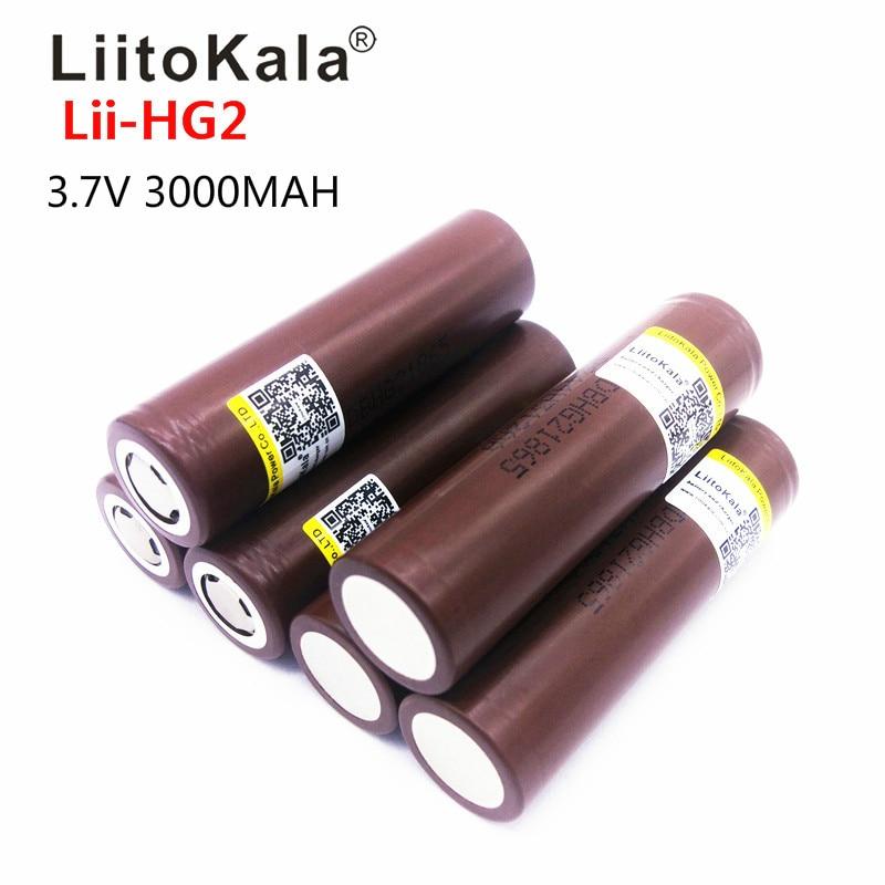 LiitoKala Lii HG2 18650 18650 3000 мАч перезаряжаемый аккумулятор для электронных сигарет высокой разрядки, большой ток 30A, 2019|Перезаряжаемые батареи|   | АлиЭкспресс