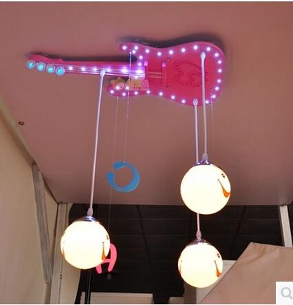 US $97.95  Mode decke lampen gitarre schlafzimmer lampen LED lampen  fernbedienung lampe-in Deckenleuchten aus Licht & Beleuchtung bei AliExpress