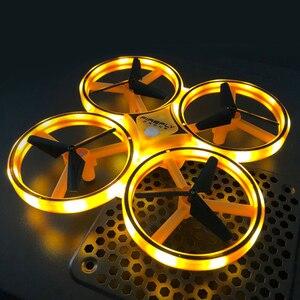 Image 5 - Nouveau Mini Drone bracelet contrôle infrarouge Obstacle évitement main contrôle Altitude tenir 2.4G quadrirotor pour enfants jouet cadeau ZF04