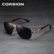 COASION Brand Design Sunglasses Men Polarized 2019 Retro Pilot Sun Glasses Male Driving Eyewear UV400 gafas de sol hombre CA1173