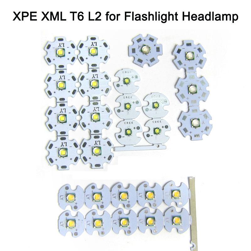 1PCS 3W 10W CREE XM-L2 T6 Chip LED Cold White 6500K Warm White 3000K LED Emitting Diode for LED Flash Light DIY Headlamp