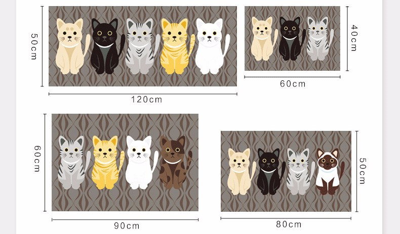 Animal Cute Cat For Kitchen & Kids Room