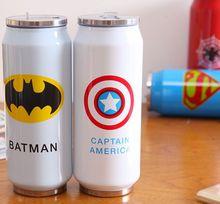 Die neue Superheld Superman Spiderman Batman Captain America Edelstahl Vakuumsauger Thermotasse Wärmedämmung Flaschen