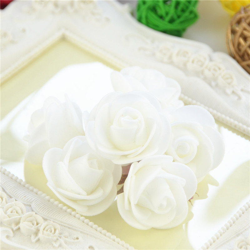 50pcs/Bag Multicolor Mini Rose Head Artificial Flowers For Wedding And Festival Party 29