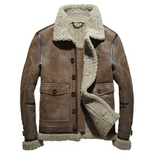 Men's Genuine Leather Clothing Winter 2016 Sheepskin Jacket Double-faced Fur Fashion Short Section Coat Turn-down Collar GSJ394