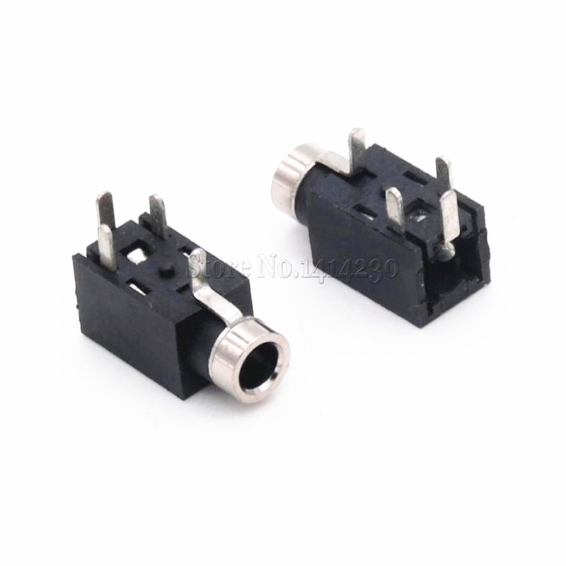 10PCS 2.5mm Female Audio Connector 4 Pin DIP Headphone Jack Socket PJ-210B