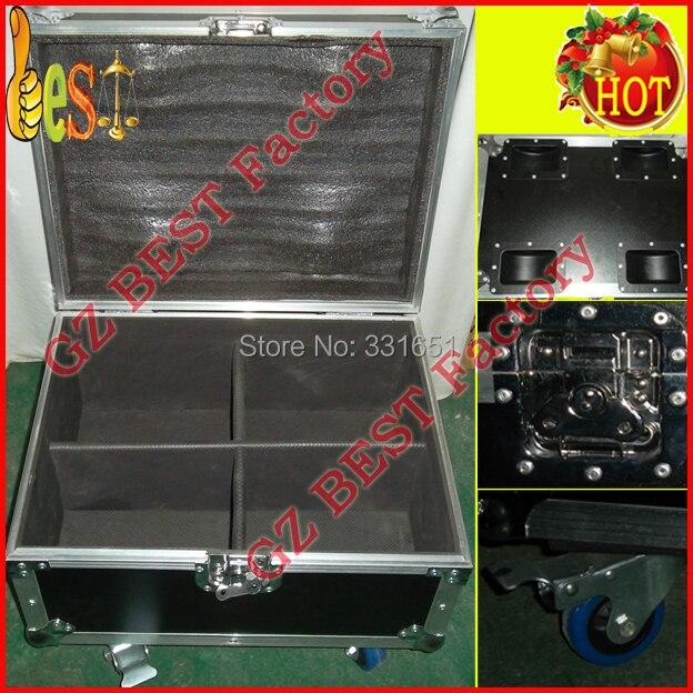 16pcs/lot With Flight case for 16lights LED Flat Par Lights SlimPar Tri 7 x 9W RGB LED Stage Wash Par Light Uplighting flight ft10 16
