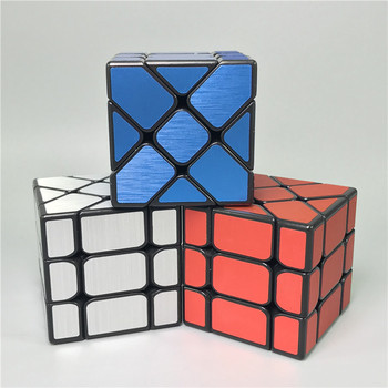 YongJun YJ Speed 3X3X3 Fisher Cube Wire Drawing Style Magic Cubes Speed Puzzle Learning Educational Toys For Children Kids yongjun mirror 2x2x2 magic cube yj 2x2 professional speed puzzle antistress educational toys for children