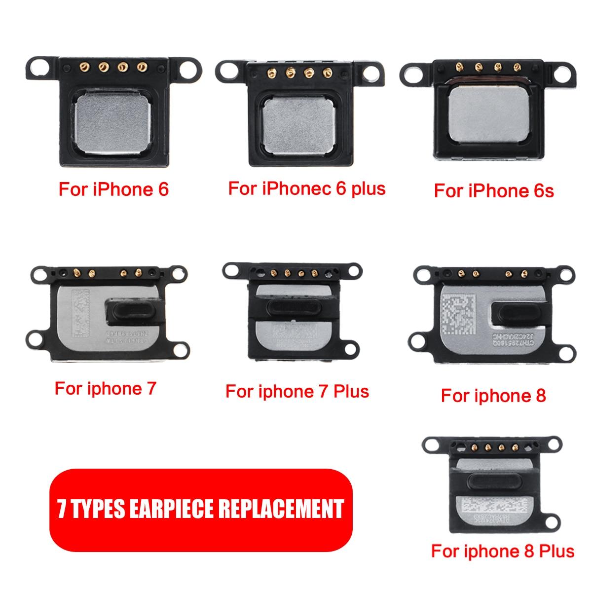 7 Types Earpiece Speaker Replacement for iPhone 6 6plus 6s 7 7plus 8 8plus Ear Speaker Repair