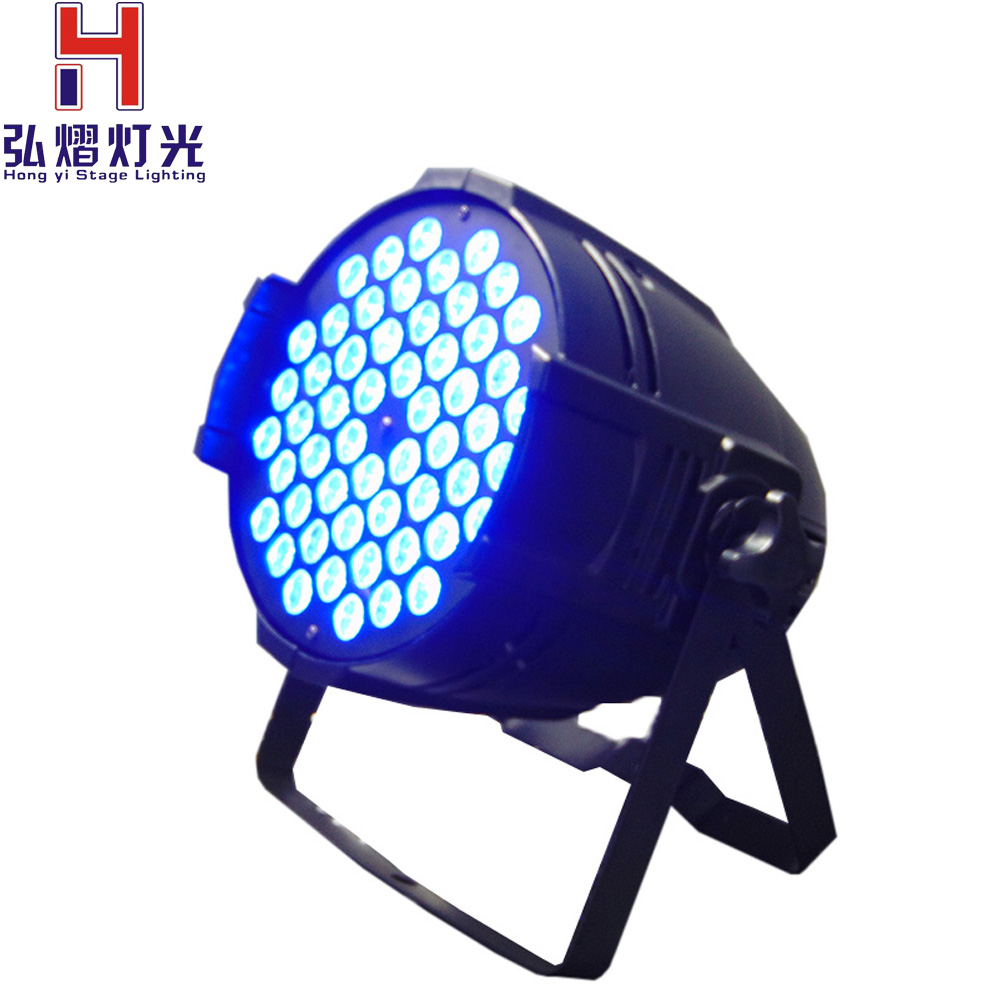 LED Par Light 54x3W 3in1 RGB 8CH LED Par 54 DMX Stage Effect Lighting DJ Disco Wash Lights for Home Party Show dmx led par lamp 54w rgb led stage par light 54leds wash dimming strobe lighting effect lights for disco dj party show