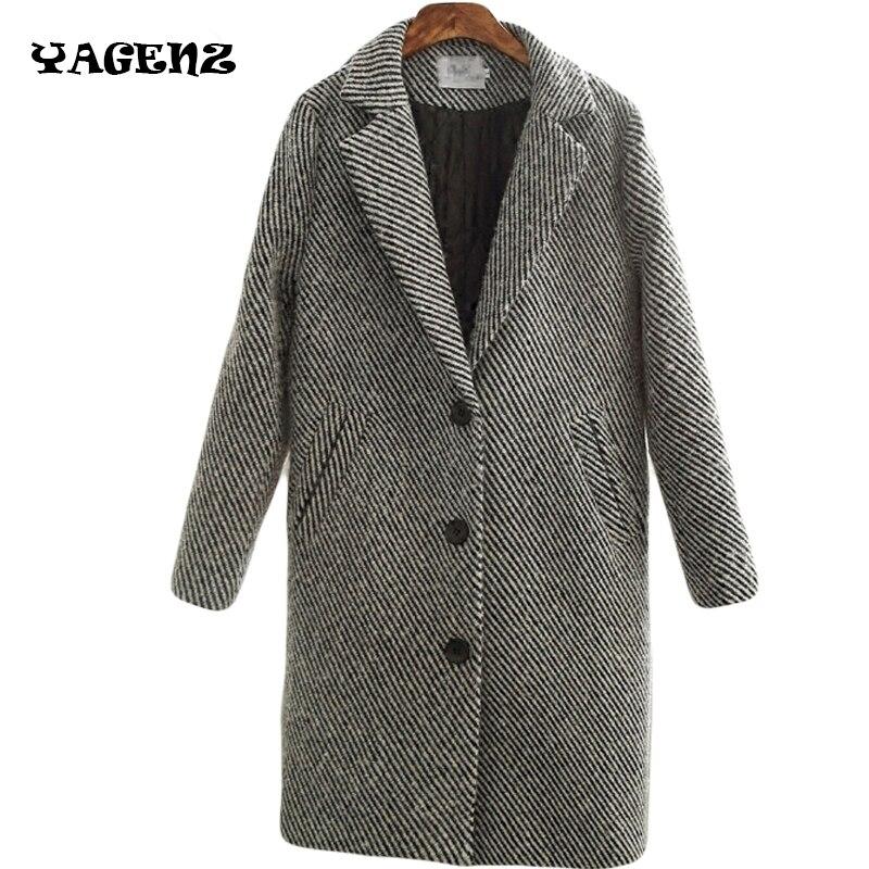 Di alta Qualità Nuovo 2017 inverno cappotti di lana delle donne vestito collare di lana cappotto bozzolo sottile di lana tuta sportiva femminile di medio-lungo A185