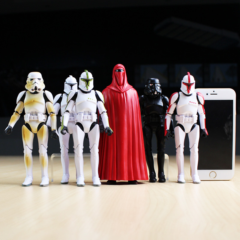 16cm Star Wars Figures Sandtrooper Boba Fett Stormtrooper Clone Trooper PVC Action Figure Toy Model Dolls 6pcs/set  Great Gift movie figure 16 cm star wars revo 005 boba fett pvc action figure collectible model toy brinquedos christmas gift