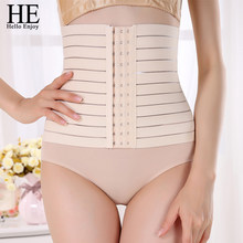 HE Hello Enjoy Pregnant Women Postpartum Belly Band 2016 Three breasted girdle belt clip Maternity fat burning belt Shapewear(China)