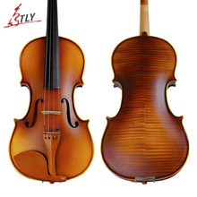 TONGLING Brand High-grade Natural Stripes Maple Antique Violin Violino Handmade Students Acoustic Violin Fiddle Jujuba Fitted