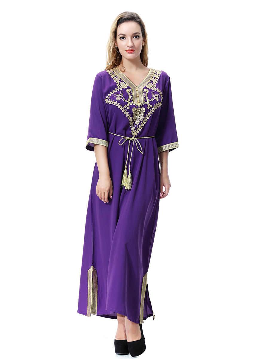 موضة عربية عباية إسلامية ملابس إسلامية للنساء دبي قفطان عباءة فساتين إسلامية تركية متواضعة عباية CN-064