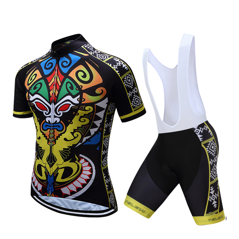 TELEYI Brand Cycling Jersey Sets Bike Team Pro Jerseys Maillot Ciclismo Over Size Bicycle Clothing Multi Color Ropa Ciclismo 036 цена