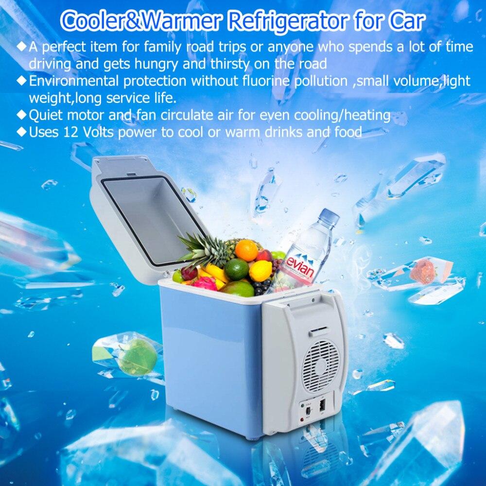 imágenes para Excelvan BT17 7.5L Portátil 12 V Auto Del Coche Mini Nevera Refrigerador De Viaje de Calidad ABS de Múltiples Funciones del Hogar Refrigerador Congelador más caliente