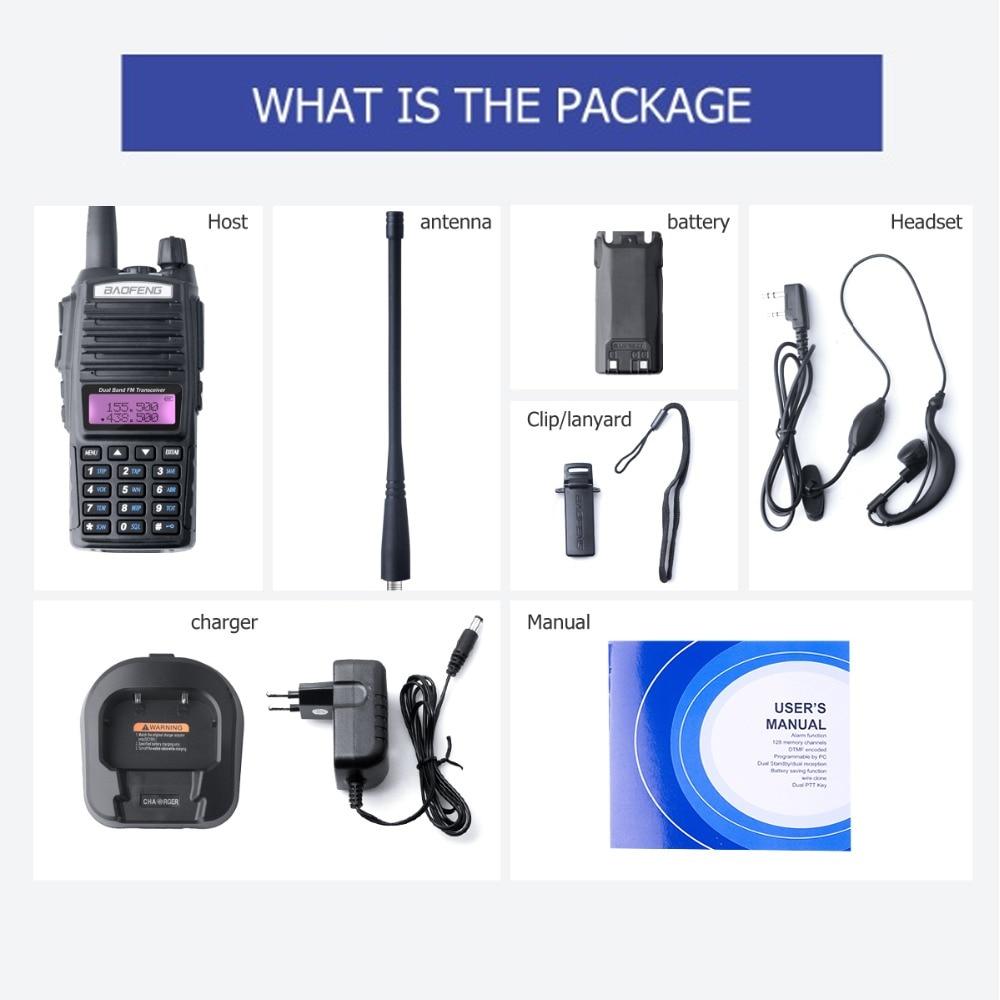 Купить с кэшбэком Baofeng UV-82 Walkie Talkie Dual PTT UV 82 Portable Two way Radio VHF UHF Ham CB Radio Station 1Pcs UV82 Hunting Transceiver