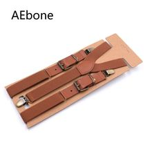 <+>  AEbone Подтяжки Мужской патч Кожа Tirantes Hombre Ремешок для брюк Мужские подтяжки для брюк Heren