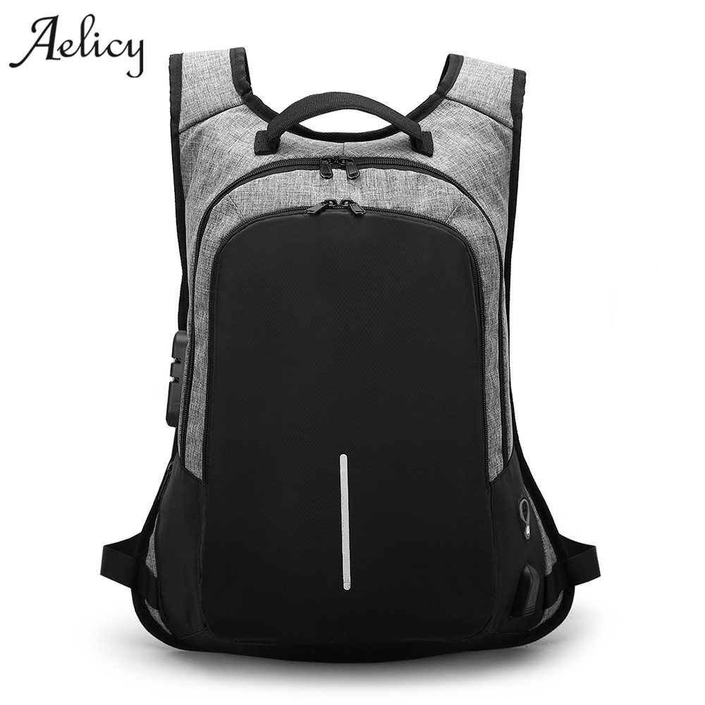 Aelicyc Luxury High Quality Anti-theft Laptop Backpack Waterproof Men Business Dayback Men Travel Bag Women Large Knapsack