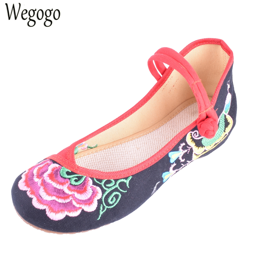 Chinese Women Flats Old BeiJing Floral Peacock Embroidery National Canvas Soft Dance Ballet Shoes For Woman Zapatos De Mujer women flats old beijing floral peacock embroidery chinese national canvas soft dance ballet shoes for woman zapatos de mujer
