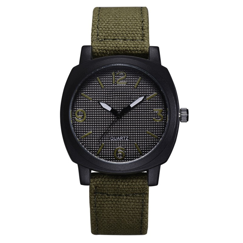 Brand Men Date Quartz Watch Army Soldier Military Canvas Strap Analog Watches Sports Clock men's wrist watches