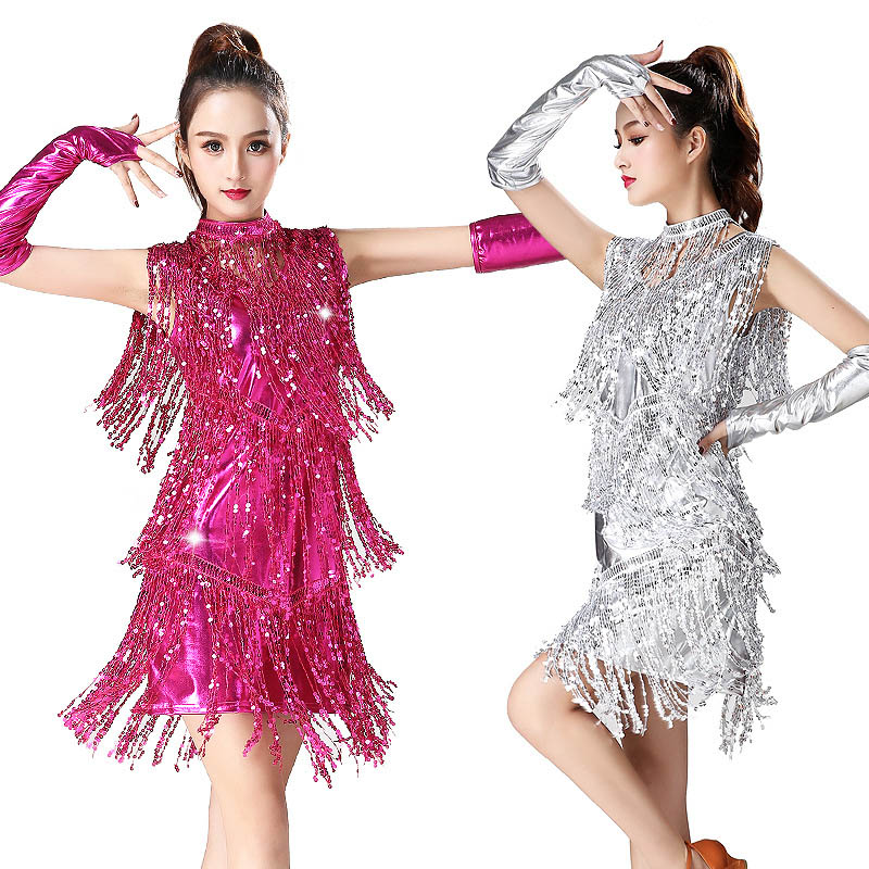 Latin Dance Dress Women Girls Lady Sexy Fringe Salsa Ballroom Tango Cha Cha Rumba Samba latin flamengo dance competition dresses in Latin from Novelty Special Use