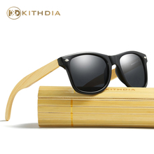 Kithdia Black PC Frame Sunglasses Handmade Bamboo Legs Polarized and Support DropShipping / Provide Pictures #KD022