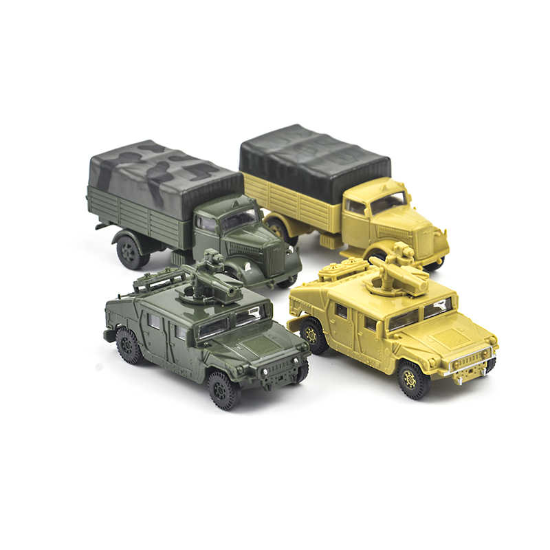 28 types 1/72 scale 4D Assemble truck Armored vehicle panzer tiger I panther tank aircraft Battleship carrier War-II model toys