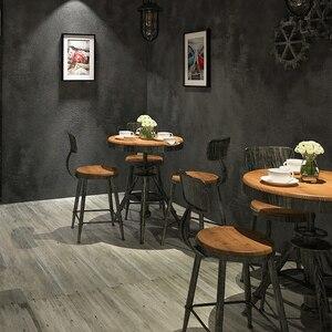 Image 3 - レトロ無地グレーセメントpvcビニール壁紙ルームバーカフェレストラン衣料品店の背景壁紙ロール