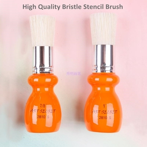 Image 2 - 2810S high quality 7PC/Lot hog bristle hair oak wooden handle brass ferrule oil and acrylic brush