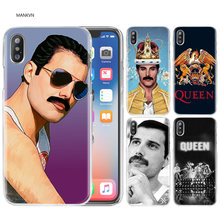 Queen Freddie Mercury Shell Case Cover Clear Hard PC Plastic for iPhone 7 XS Max XR 7 8 6 6s Plus X 5 5s SE 5C 4 4S Coque Fundas(China)