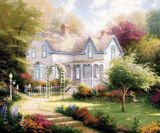 prints for sale thomas kinkade christmas evening paintings for bedrooms canvas decoration pictures the wall monroe